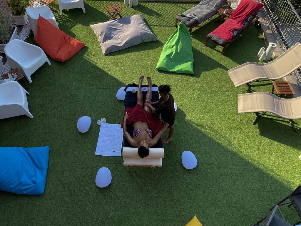 massaggio in terrazza